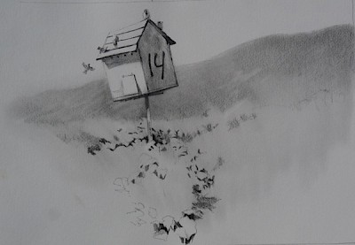 owl box, drawing, Israel