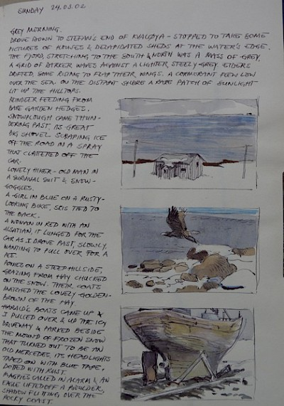 page from Tromso sketchbook, 2002